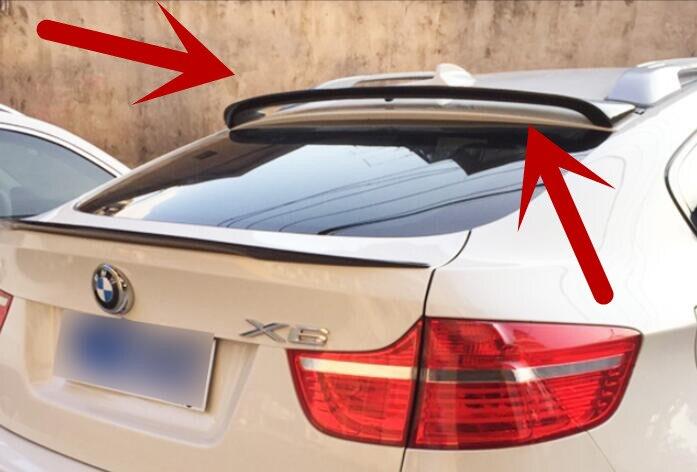Aileron de lèvre de coffre arrière de voiture en Fiber de carbone pour bmw x series 2008-2013x6 e71 par EMS