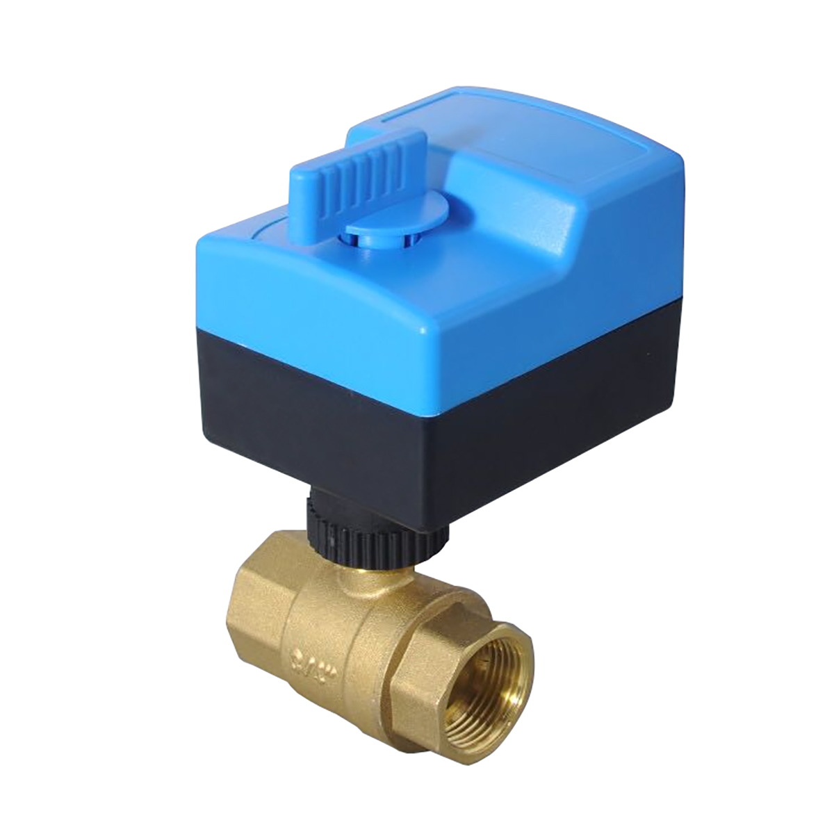 AC220V AC24V 2 way brass valve motorized ball valve electric ball valve electric Actuator with Automatic and manual DN15 - DN25 1 dn25 pneumatic female ball valve 2 way 304 screwed thread stainless steel ball valve double acting at straight way ball valve