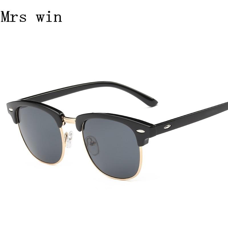 HDSUNFLY Men Polarized Sunglasses Classic Men Women Retro Rivet Fashion Brand Designer Sun Glasses UV400 Male Female Eyewear