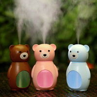 Cute Teddy Bear 160ml Usb Humidifier Electric Air Freshner Cool Mist Maker With Led Light