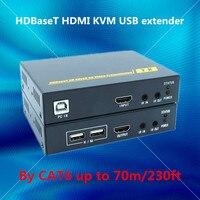 ZY HT201HKM 70 м HDBaseT HDMI USB KVM Extender над RJ45 CAT6 кабель 4 К HDMI POE удлинитель с ИК HDMI 1.4 В Full HD 3D, 4 К повторителя