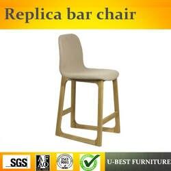 U-BEST Североевропейский стиль моды Реплика Nerd барный стул, высокое качество твердой древесины паб используется Реплика барный стул