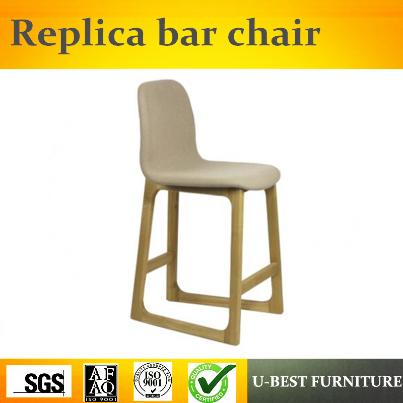 U-BEST North European Fashion Style Replica Nerd Barstool Bar Chair,High Quality Solid Wood Pub Used Replica Bar Chair