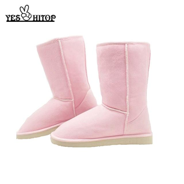 2018 HOT Sale Euro35-40 Brief Slip-on Mild-Calf Soft Flock Anti-Slip Snow Boots Women Winter Boots Female Snow Shoes