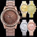 Gorgeous!!! Geneva Bling Crystal Ladies Women Girl Unisex Stainless Steel Quartz Wrist Watch  5UWP