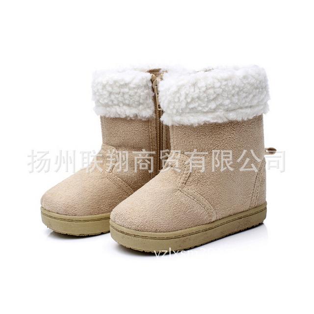 Caliente venta del bebé calza muchachos de las muchachas zapatos calientes de algodón bebé botas bebé niño niñas de invierno nuevo bebé de la muchacha de los muchachos