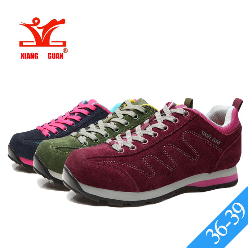 XIANG GUAN Women Suede Leather Trail Running Shoes Breathable Jogging  Walking Trainers Ladies Athletic Sport Sneakers Non-slip e1be2f3f42d4