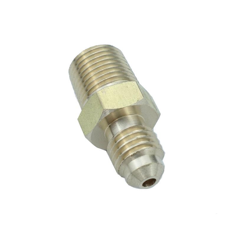 3pcs 1/8 1/4 3/16  5/16 3/8 Tube OD x 1/8 1/4 3/8 NPT Brass SAE Flare Fitting Male Connector nipple adapter 45 deg Flare