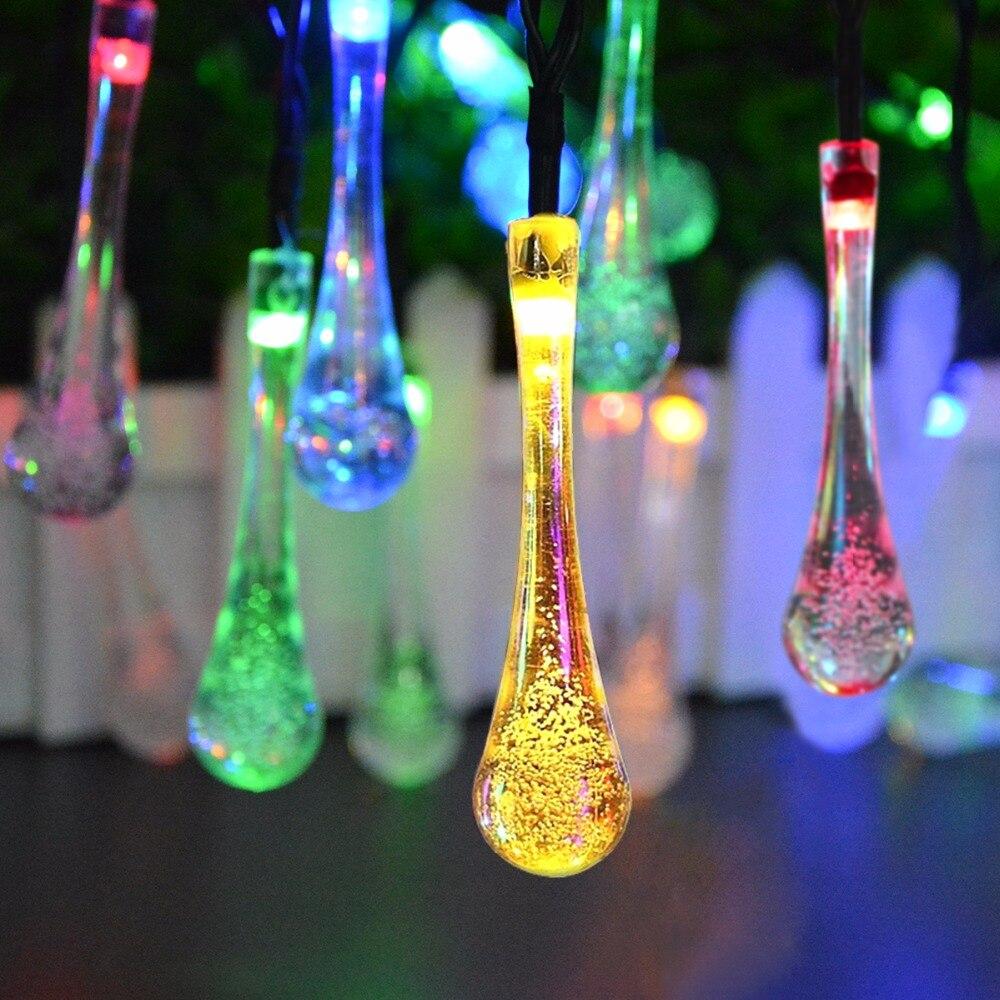 L'énergie solaire LED Pelouse lampe LED Cordes Guirlande lumineuse Extérieure Jardin Paysage éclairage De Vacances De Noël Décoration De Partie De Mariage