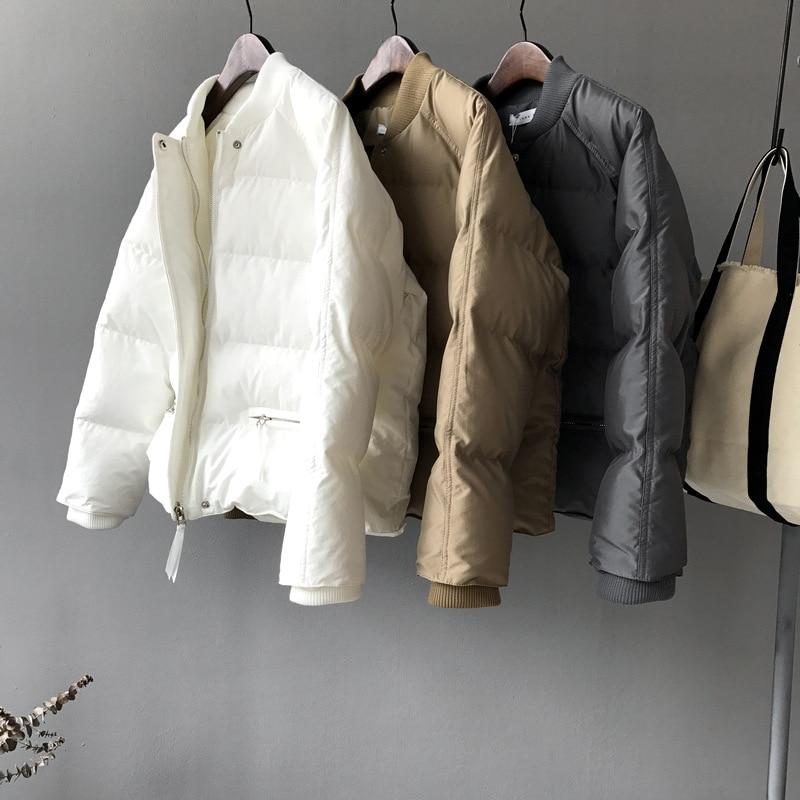 2018 новые зимние женские толстая верхняя одежда для женщин группа ткачество однотонная одежда хлеб пальто для будущих мам Короткие