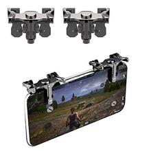 PUBG Metall Trigger Telefon Handy-Spiel Pad Für Pubg Controller L1R1 Shooter Taste Griff Für iphone LG Freude Stick Pubg gaming kit