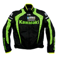 New arrival men motorcycle motocross jacket textile oxford jacket kawasaki Autumn Winter jackets lining removable