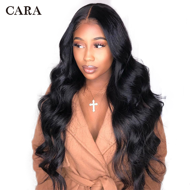 658ae0e47 250 Density 13x6 Lace Front Human Hair Wigs For Women Body Wave Brazilian  Virgin Hair Glueless Lace Front Wig Natural Black CARA