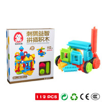 112pcs Early Childhood Intelligence Interest Cultivation Toy Children Building Block Toy DIY Soft Exercise Hand Eye Coordination
