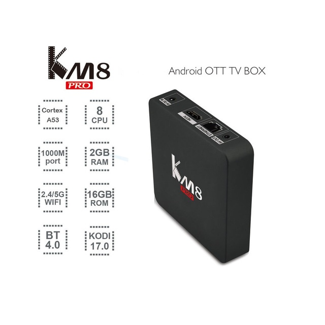 KM8 Pro Smart TV Box Android 6.0 TV Box Amlogic Octa S912 Core CPU Apoio BT 4.0 Dual Band WiFi 2017 17.0 Conjunto Superior caixa
