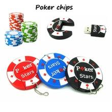 Fashion poker stars usb flash drive casino chips usb stick pendrive 4GB 8GB 16GB 32GB  Full Capacity memory stick cle usb 2.0
