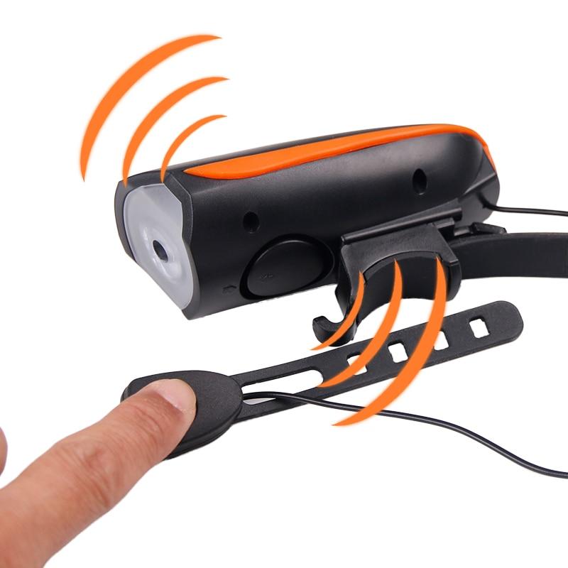 Cykellampa + Horn USB Laddare Bike Front Handlebar LED Lampa Lantern - Cykling - Foto 4