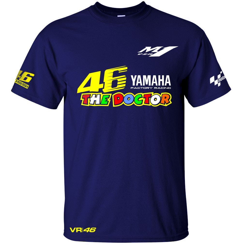 Valentino Rossi VR46 Quick Dry T Shirt Bike Motorbike The Doctor MotoGP 46 Sports T-Shirt VR46 Racing Shirt For YAMAHA