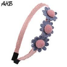 AHB 1 Pc Cute Summer Girls Headbands Flowers Hairband Fashion Handmade Hair Band Hoop Korean Childrens Headwear