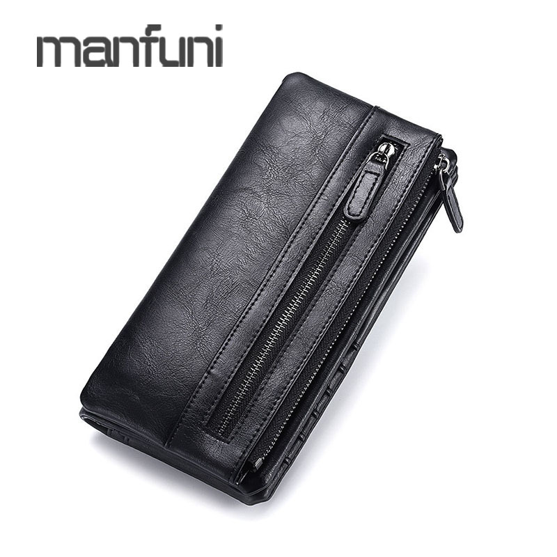 Luxury Brand Men s Wallet Clutch Bags Leather Long Coin Pocket Business Male Purse Wallet Man