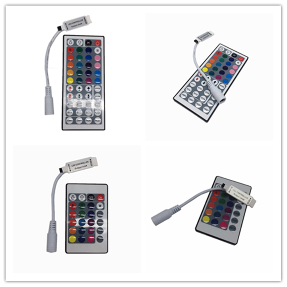 Купить с кэшбэком 1X 24key / 44 key RGB IR Remote Controller DC 12V 3A/5A Power supply Adapter Transformer For 2835 3528 5050 SMD LED Strip Light