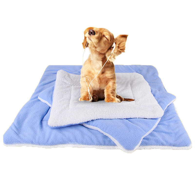 Soft Warm Pet Dog Sleeping Blanket Winter Puppy Bed Cushion Bed Pad Mat Small Pet Dogs Bath Products for Pets Travel S-XL 7D29