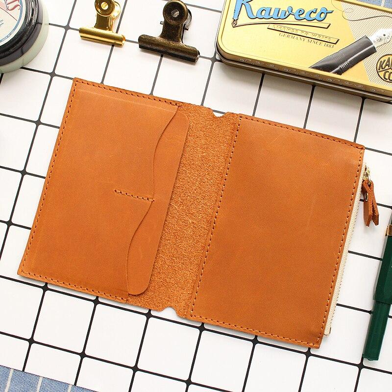 Купить с кэшбэком Fromthenon Litchi Grain Leather Travelers Notebook Card Bag Storage Bag For Midori Traveler's Notebook Vintage Retro Accessories