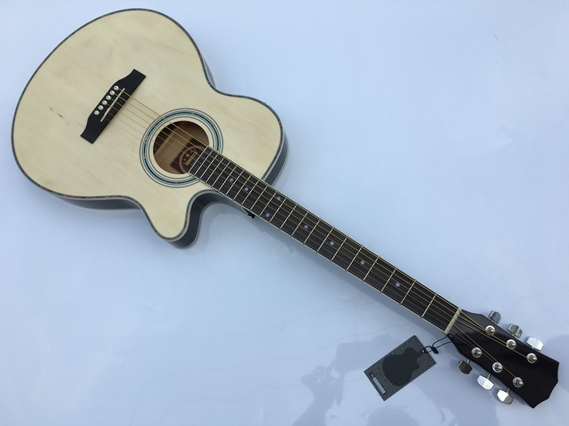 thin body acoustic-electric guitar beginner guitar with free gig bag free stringthin body acoustic-electric guitar beginner guitar with free gig bag free string