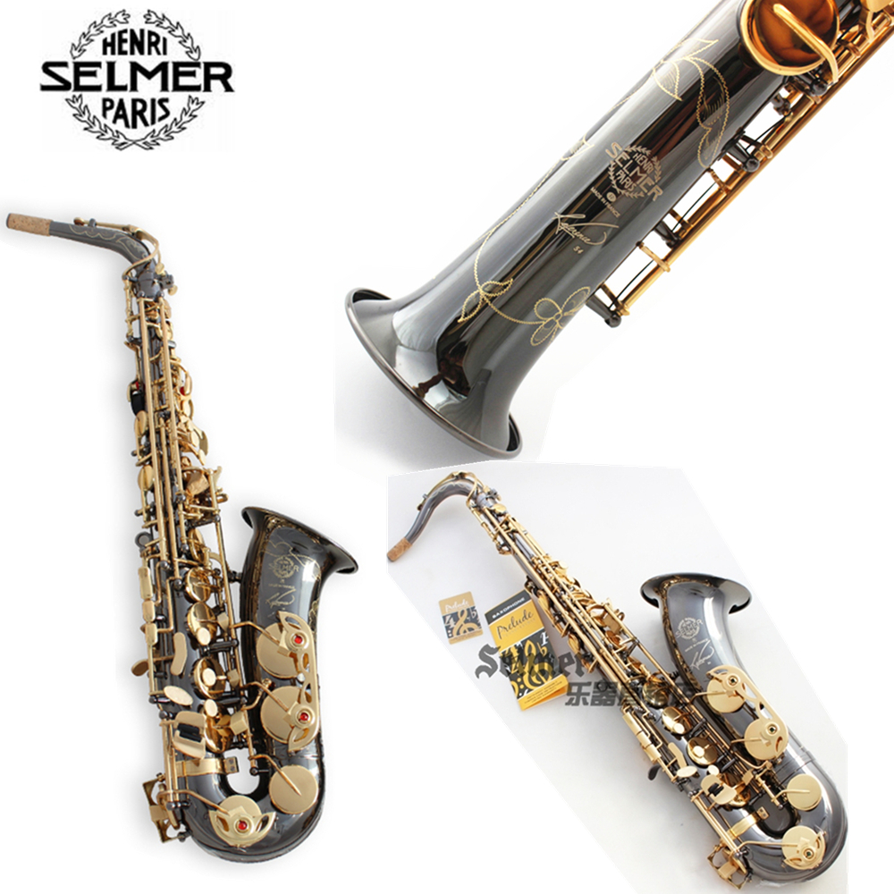 France Salmer Saxophone R54 Soprano Tenor Sax B Flat Alto bE Saxofone Professional Musical Instruments Black Nickel Gold car armrest for kia k2 rio 2011 2016 central store content storage box with cup holder ashtray accessories car styling abs