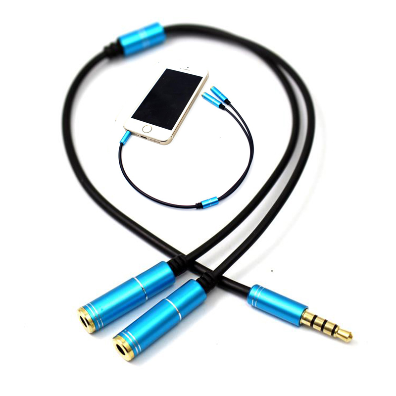 1PC 3 5mm 1 in 2 Couples Audio Line Earbud Headset Headphone Earphone Splitter for Pad