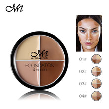 Contour Palette Cream Base Makeup Cover Foundation Concealer Face Primer Pores Invisible Corrector Cosmetic 4 Color/Kit(China)