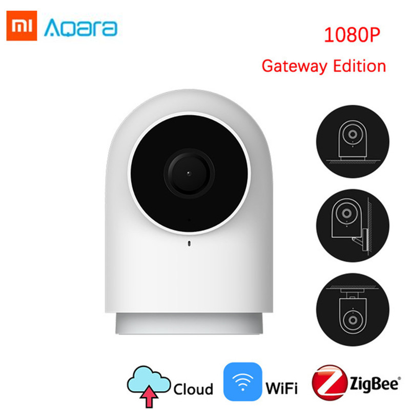 Original 2019 1080 p xiaomi aqara câmera inteligente g2 gateway edição zigbee ligação ip wi fi sem fio em nuvem de segurança em casa smartdevice