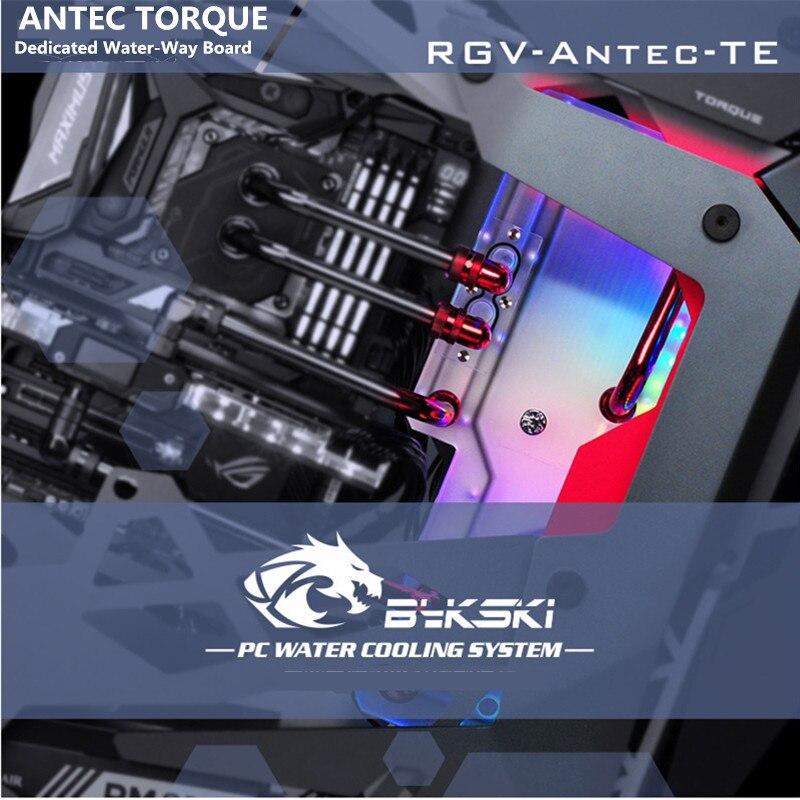 Bykski Hidrovia Placa de Defletor Placa de Refrigeração a Água do Canal do Programa RBW RGV Iluminação Para TORQUE Chassis ANTEC-Antec-TE
