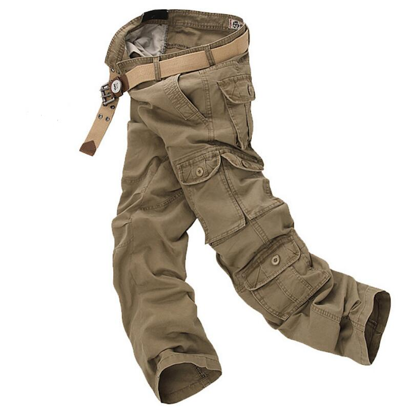Mens Baggy Pants Men s Fashion Overalls Zipper Pants casual Cotton Camouflage Different Sizes Work Pants