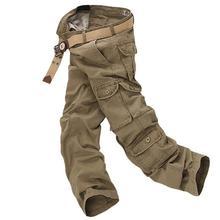 Herren Baggy Hosen Herrenmode Overalls Reißverschluss Hosen casual Baumwolle Camouflage Verschiedenen Größen Arbeiten Hosen Mens Hosen Hosen