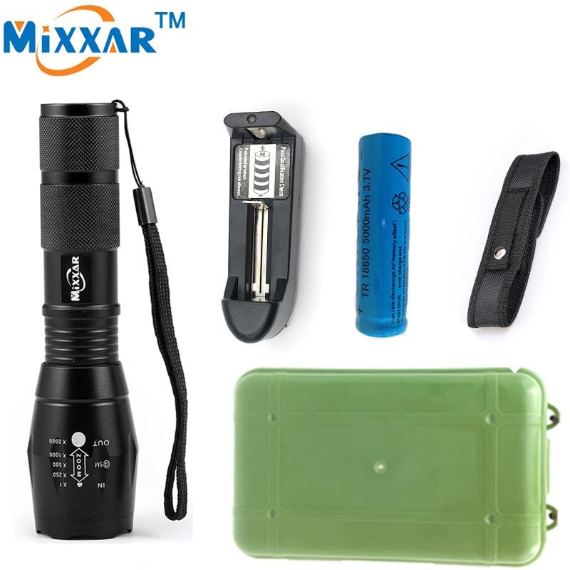 RU Lanterna CREE XM-L2 8000LM Tactical Flashlight Torch Zoom Linternas LED Flashlight for 3xAAA 1x 18650 Rechargeable Battery nitecore mt10a 920lm cree xm l2 u2 led flashlight torch