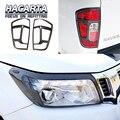 Бесплатная доставка для NAVARA NP300 Red letter CARBON FIBER color Передняя крышка лампы головной свет крышка 2 шт. аксессуар NP300 аксессуары