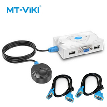 MT-VIKI 2 VGA KVM Switches VGA Switcher USB Mouse and Keyboard Sharing 3 Switching Methods Automatically Identify MT-201KL
