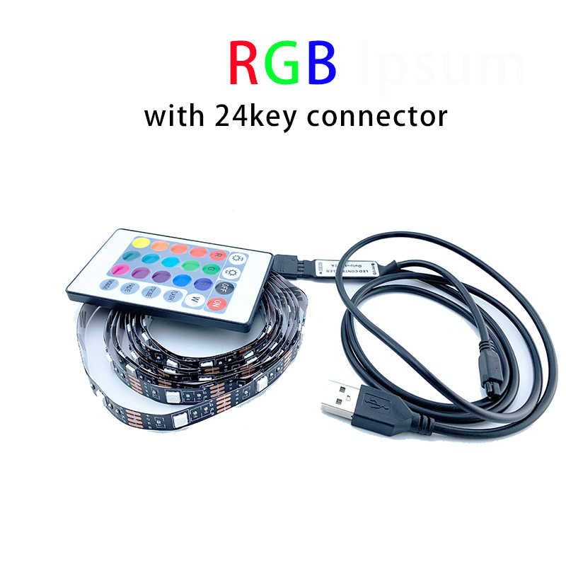 شريط ليد مزود بيو إس بي 3528 5V التلفزيون خلفية led قطاع RGB/الأبيض/الدافئة أبيض 50 سنتيمتر 1M 2M 3M 4M 5M شاشة خلفية التحيز الإضاءة