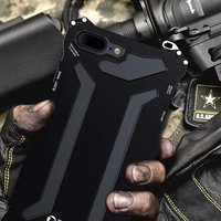 R JUST Gundam Luxury Doom Metal Case For IPhone 7 7 Plus 360 Degree Aluminum Armor