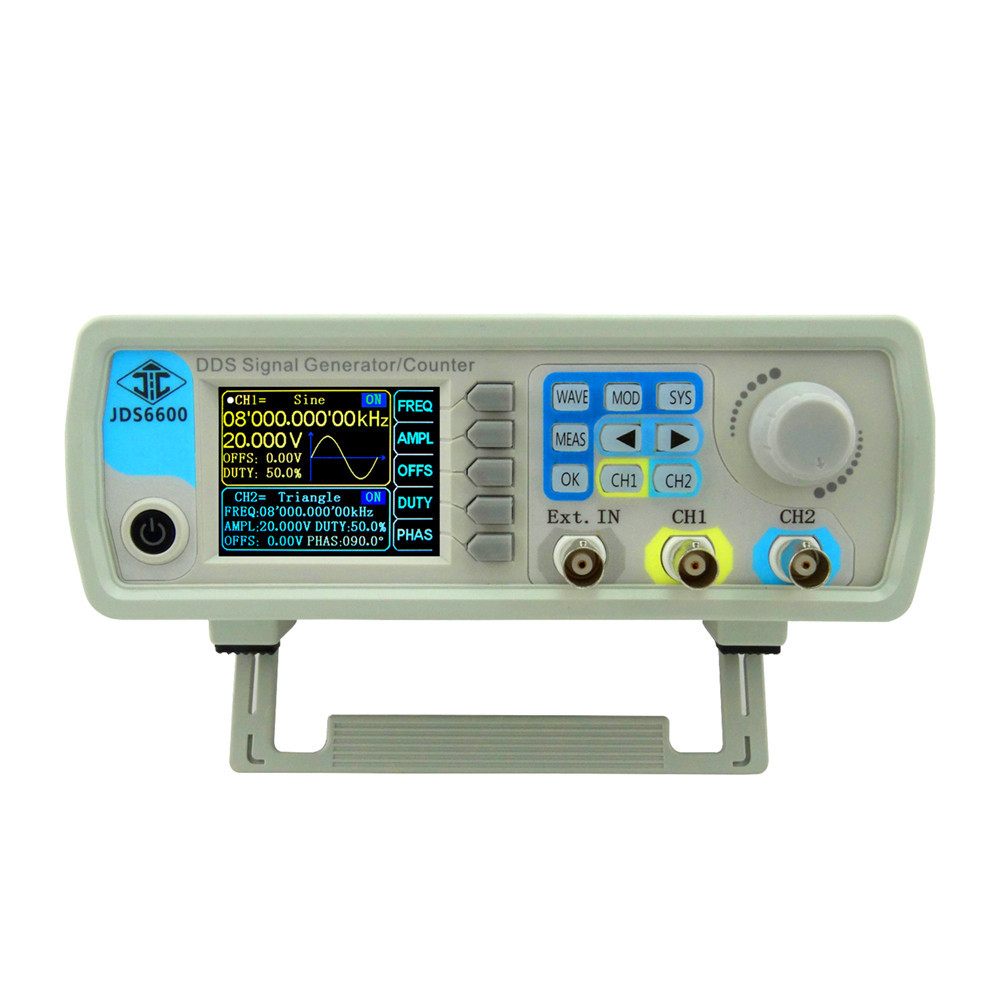 JDS6600  30MHZ Digital DDS Function Signal Source Generator Dual-channel Arbitrary Waveform Frequency Meter 37%off