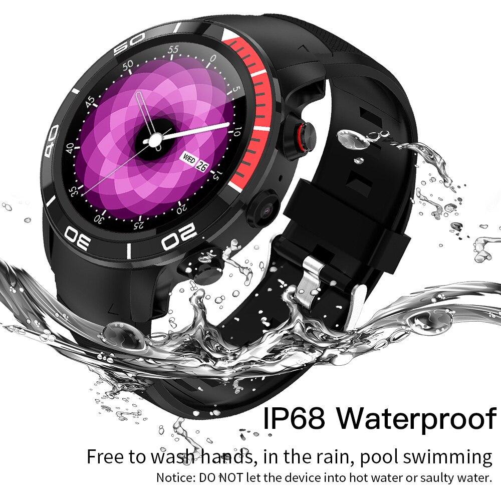 696 H8 Moda IP68 4G GPS Relógio Inteligente à prova d' água Android 7.1 apoio Nano SIM 16 GB/ROM Smartwatch monitor De Freqüência Cardíaca Pedômetro