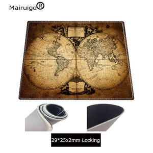 Image 4 - Mairuige Oude Wereldkaart Grote Gaming Lock Edge Muis Mat Toetsenbord Pad Bureau Mat Tafel Mat Gamer Mouse Pad Voor laptop Notebook Lol