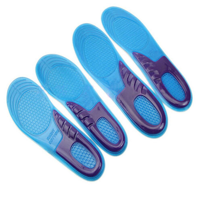 Unisex massaging gel Orthotic insole work boots heel pain and Plantar Fasciitis For Female 1