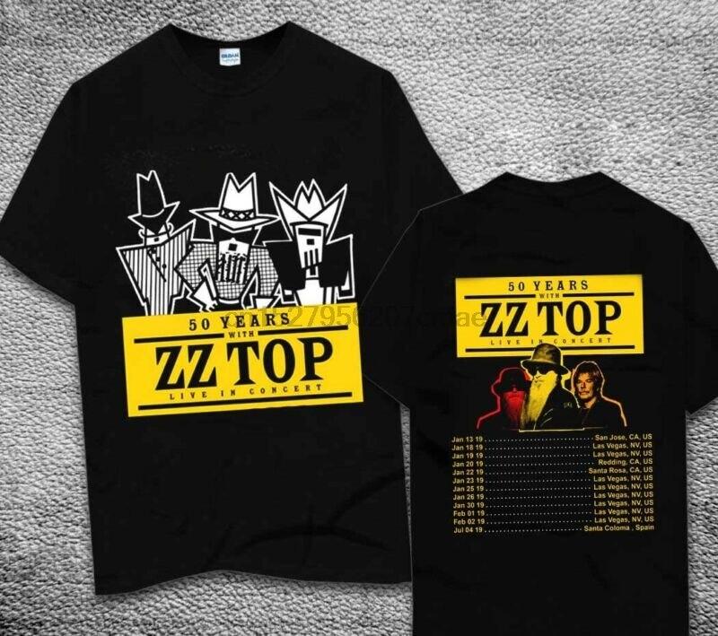 7fa3dd298 Band ZZ Top T Shirt Fashion White Color Short Sleeve Cartoon ZZ Top ...