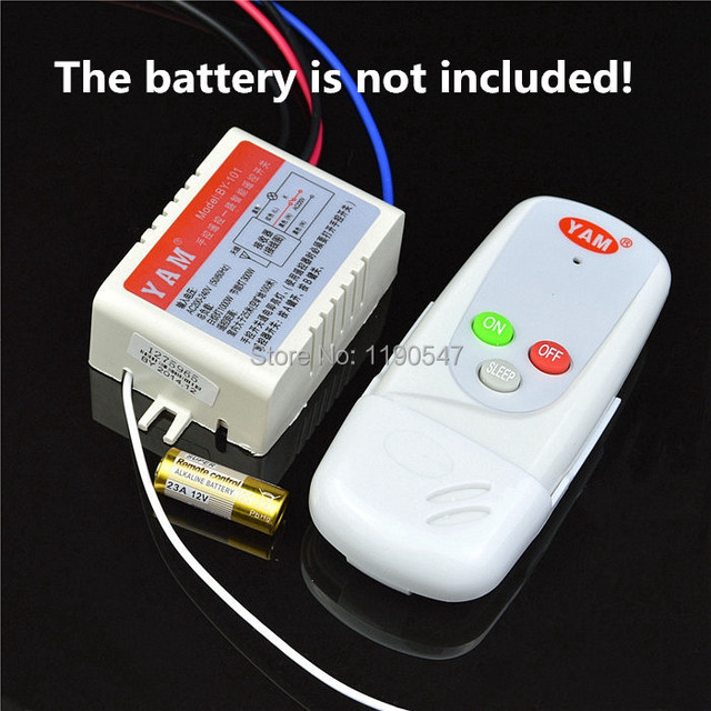 1 Piece 1 Way Digital Wireless Remote Control Switch 220v