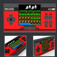 New retro red white Handheld Game Players FC game Players NES handheld game Players Tetris handheld built in 348 games