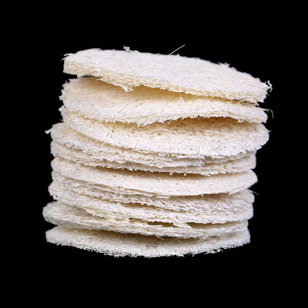 10PCS Natural Loofah Sponge Bath Rub Exfoliate Bath Glove Oval Bath Towel Wholesale