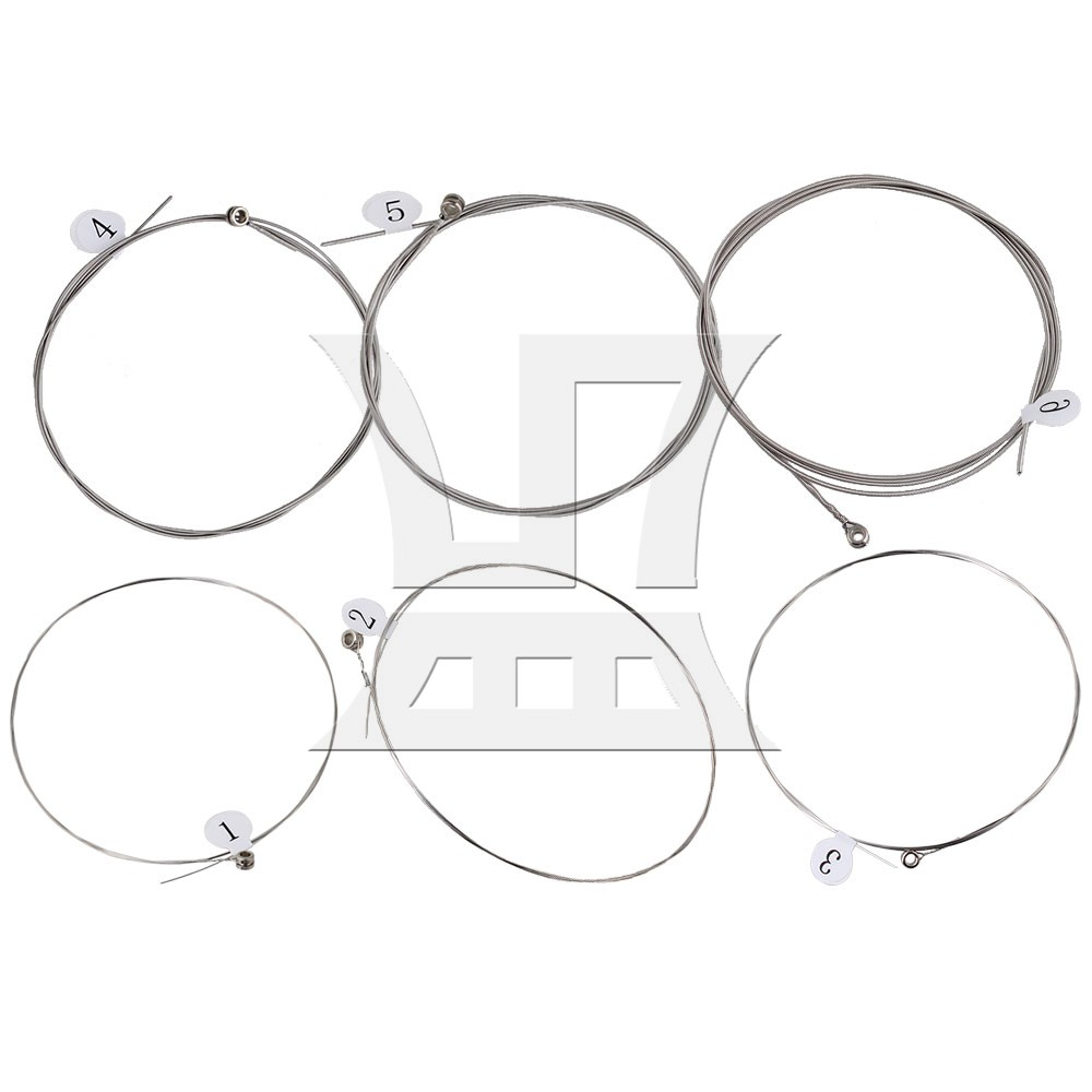Yibuy 6pcs Electric Guitar 6 Strings Nickel Plated Steel Core CE60-SL Replacement