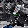 360 Вращение 5 В 2.1A Автомобиля Dual USB Зарядное Устройство для Прикуривателя держатель Подставка Для iPhone Samsung HTC LG Huawei Meizu ZUK ZTE
